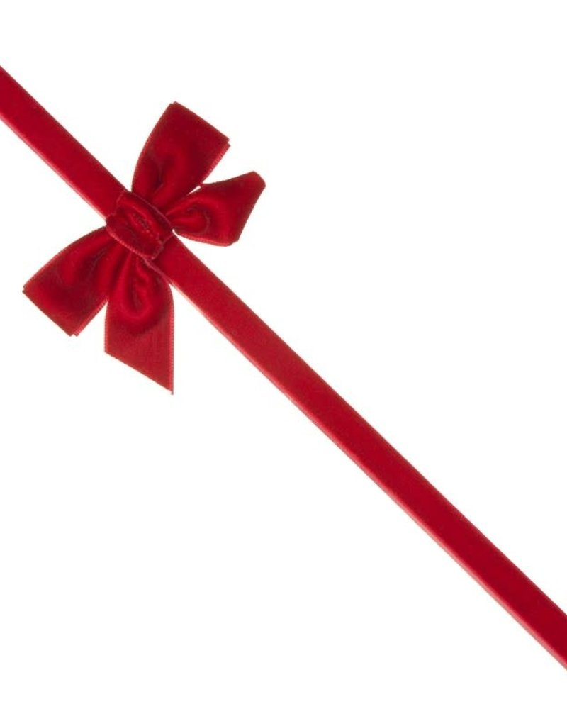 Siena Siena haarband  rood  fluweel met strik