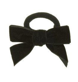 Siena Siena elastiek zwart met fluwelen strik