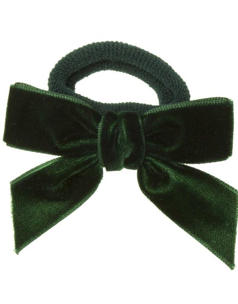 Siena Siena elastiek  groen met fluwelen strik