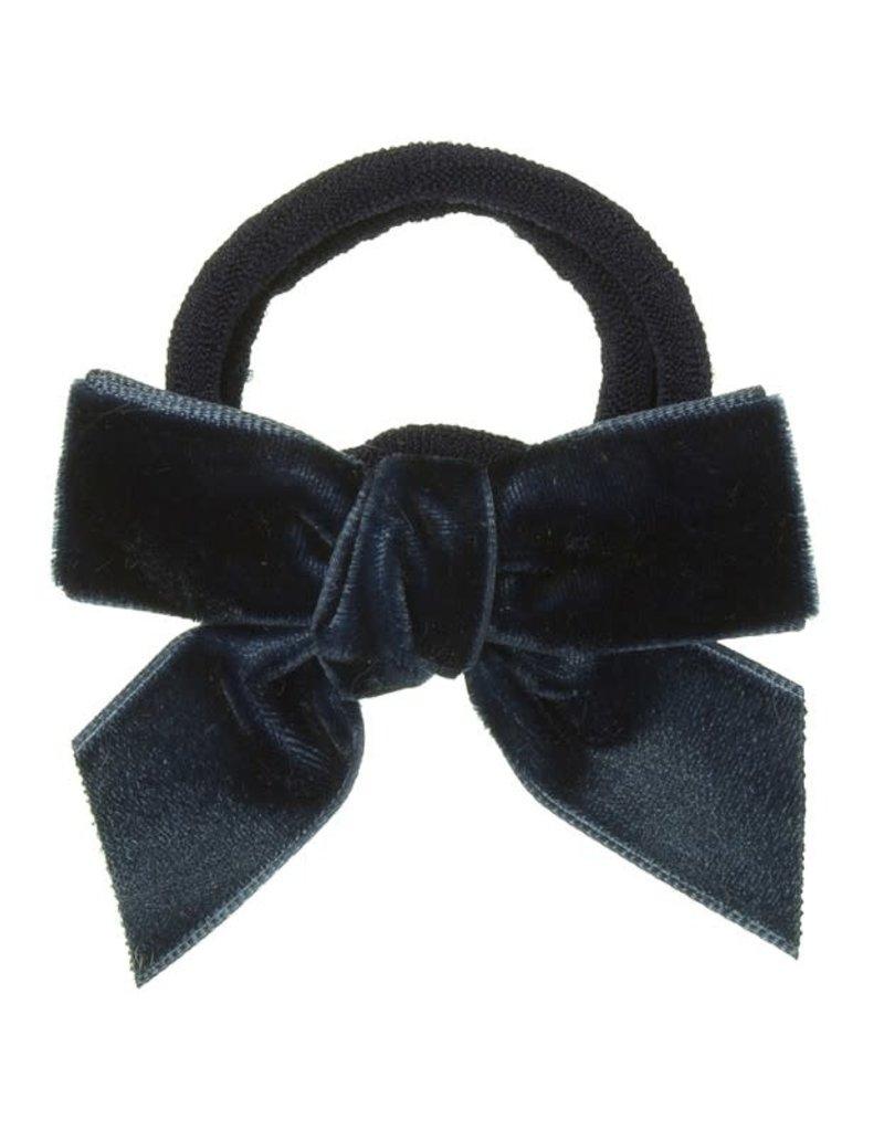 Siena Siena elastiek  donkerblauw met fluwelen strik
