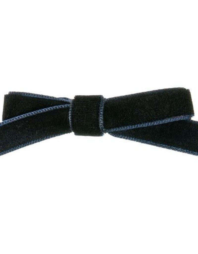 Siena Siena  knipje donkerblauw  met fluwelen  strik