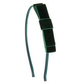 Siena Siena  Haarband met groen fluwelen  strik