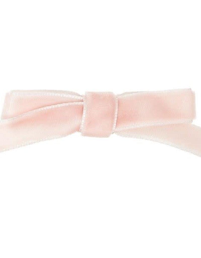 Siena Siena  knipje met roze fluwelen  strik
