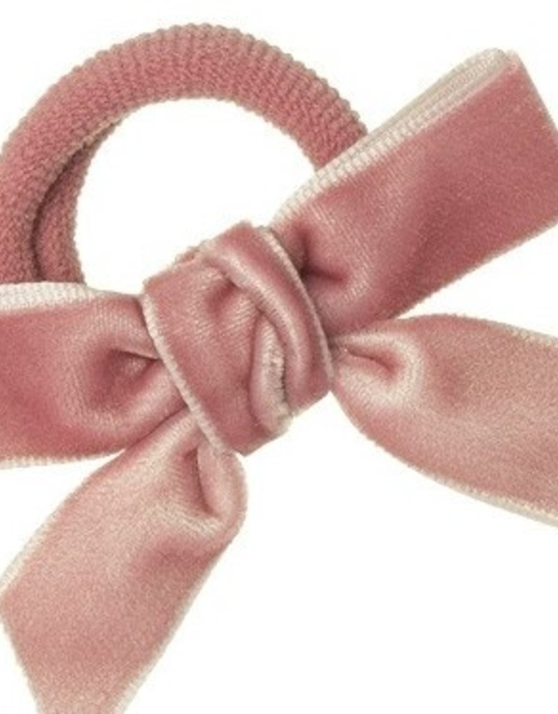 Siena Siena elastiek  oud roze met fluwelen strik