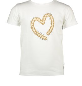 Le Chic Le Chic T-shirt animal dots applique C012-5422 Off White