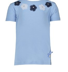 Le Chic Le Chic T-shirt voile flowers at neck C012-7437 Feels like Heaven