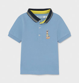 Mayoral Mayoral printed s/s polo Lavender - 21 01104
