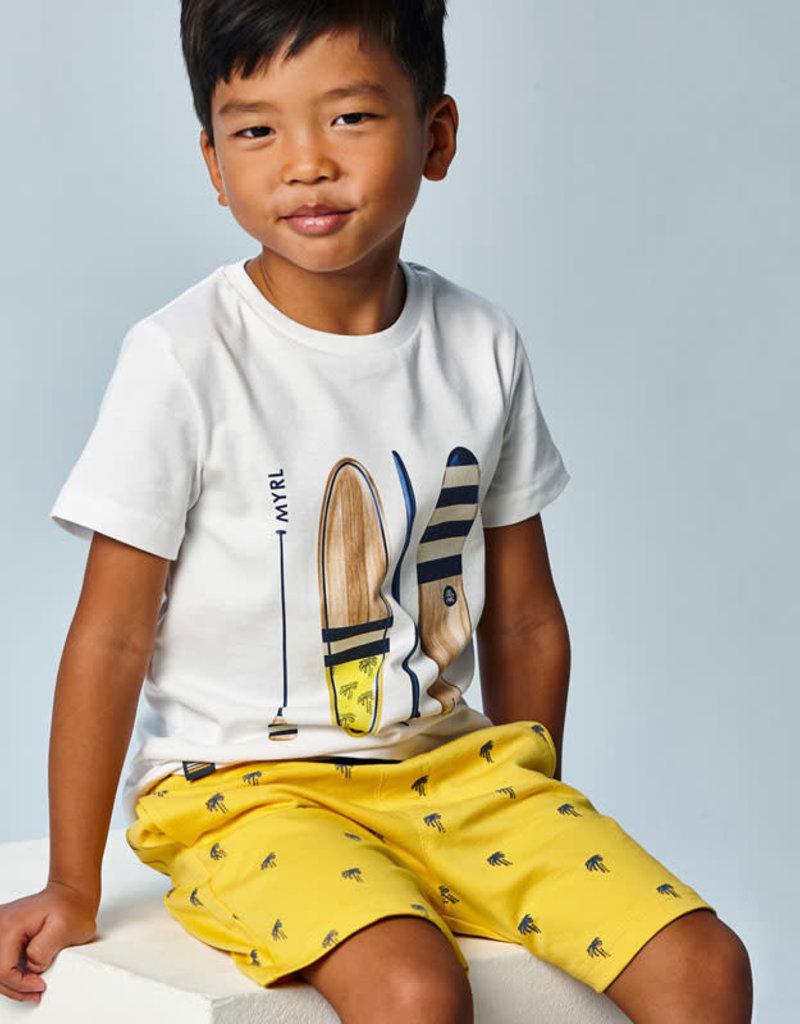 Mayoral Mayoral knit printed bermuda set Yellow - 21 03638