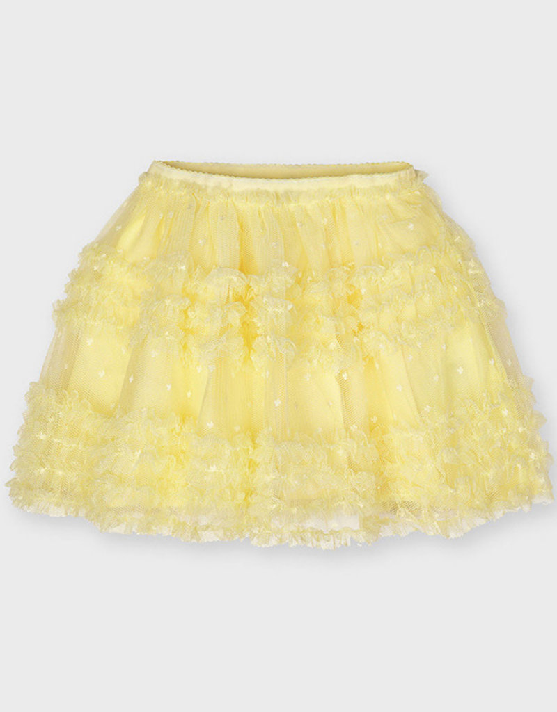 Mayoral Mayoral Plumeti tulle skirt Yellow - 21 03901