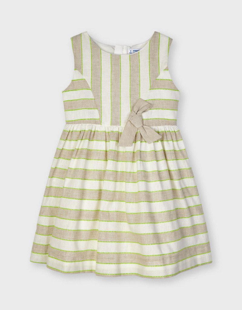 Mayoral Mayoral Stripes linen dress Linen - 21 03919
