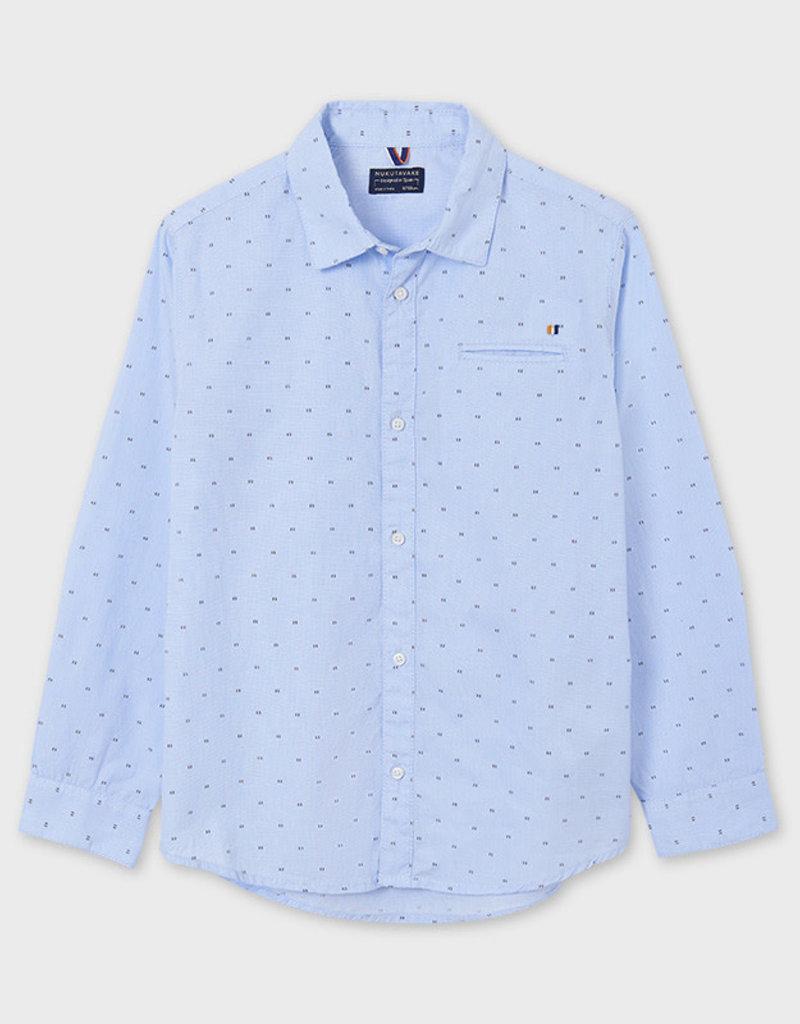Mayoral Mayoral L/s shirt Lightblue - 21 06117