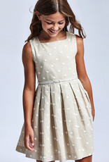 Mayoral Mayoral Linen embroidered dress Linen - 21 06921