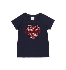 "Boboli Boboli Knit t-Shirt flame ""heart"" for girl NAVY 452045"