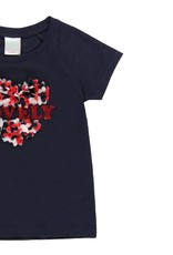 "Boboli Boboli Knit t-Shirt flame ""heart"" for girl NAVY 452045"