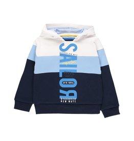 Boboli Boboli Fleece with hood sweatshirt for boy WHITE 502074