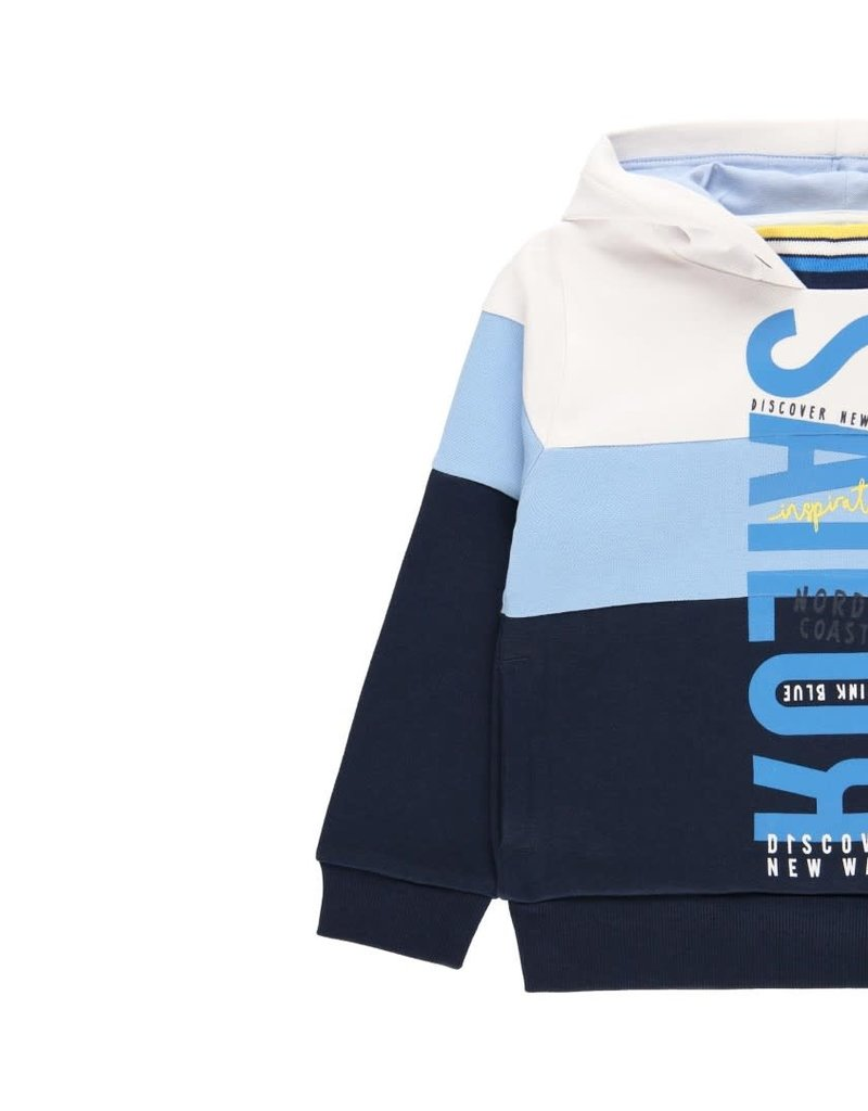 Boboli Boboli Fleece with hood sweatshirt for boy WHITE 502074