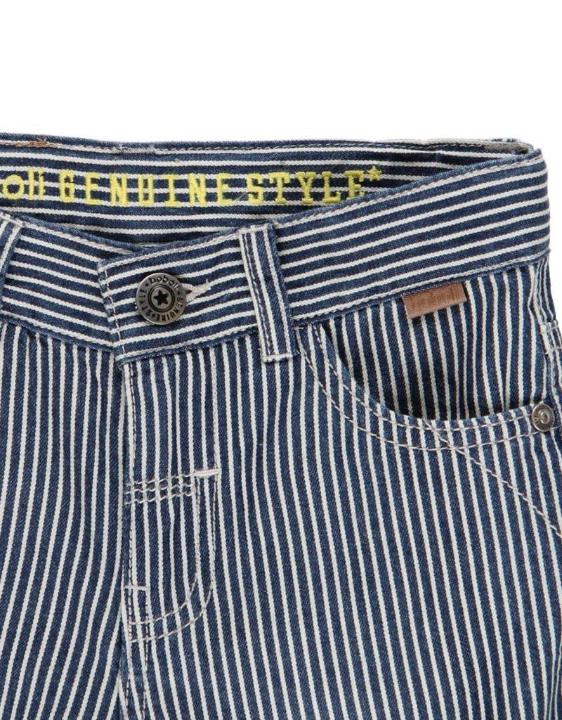 Boboli Boboli Denim bermuda shorts striped for boy stripes 502108