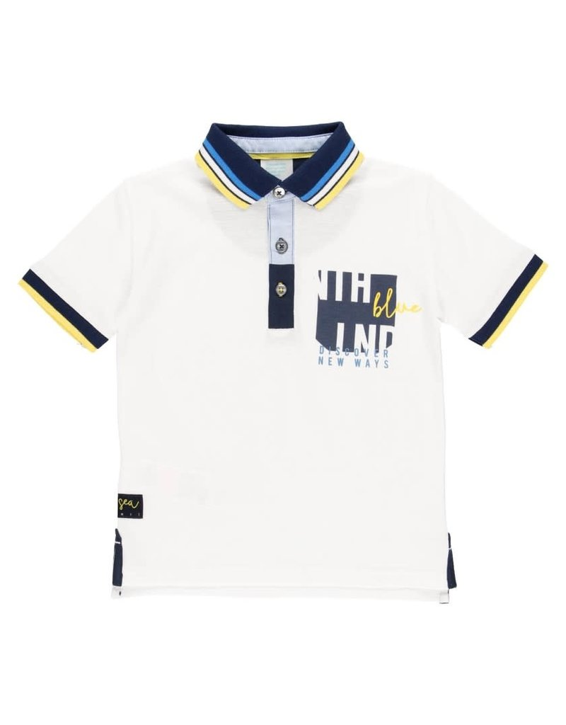 Boboli Boboli Pique polo for boy WHITE 502164