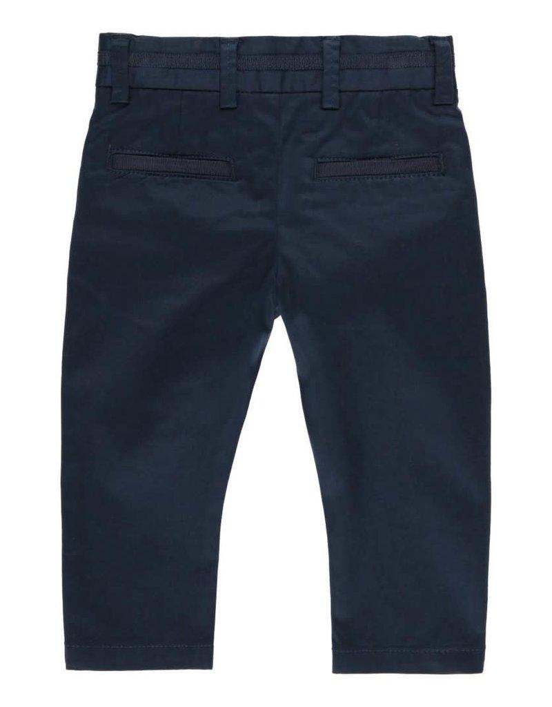 Boboli Boboli Stretch satin trousers for baby boy NAVY 712178