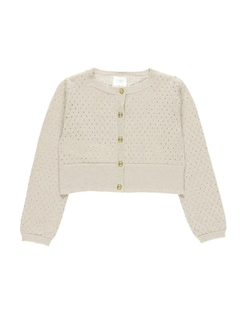 Boboli Boboli Knitwear jacket for girl stone 722078