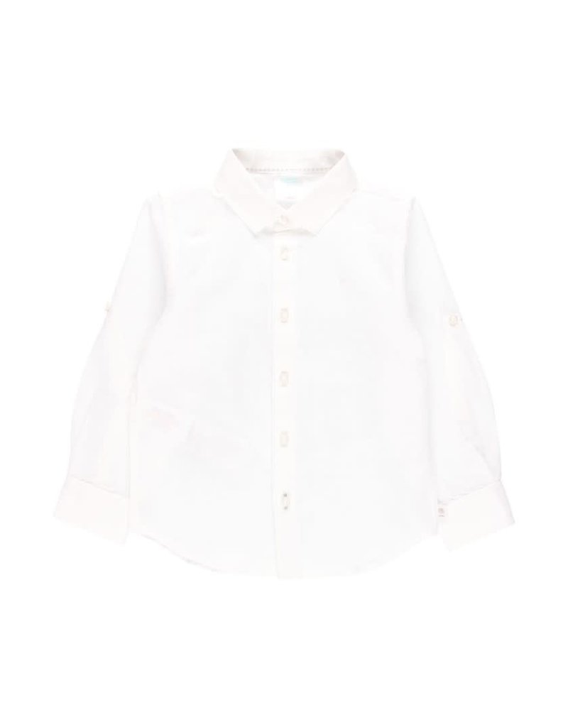 Boboli Boboli Linen shirt long sleeves for boy WHITE 732002