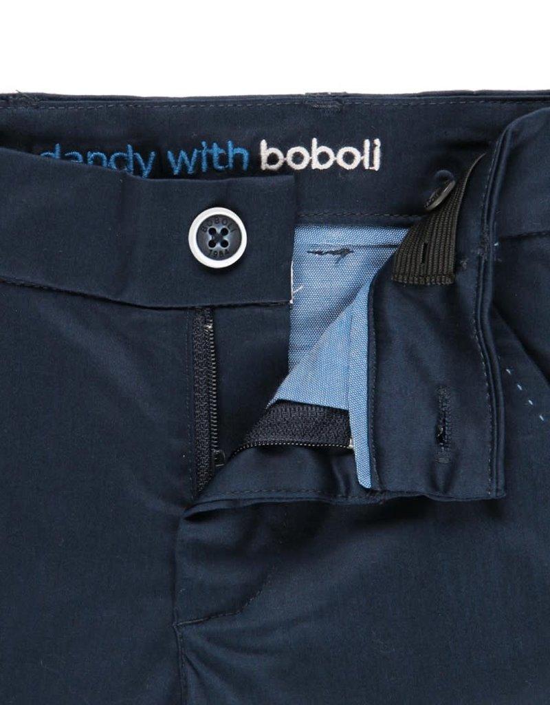 Boboli Boboli Stretch satin trousers for boy NAVY 732260