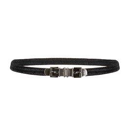 Frankie&Liberty Frankie&Liberty Belt Black-Silver Buckle 03 BLACK - FL21500