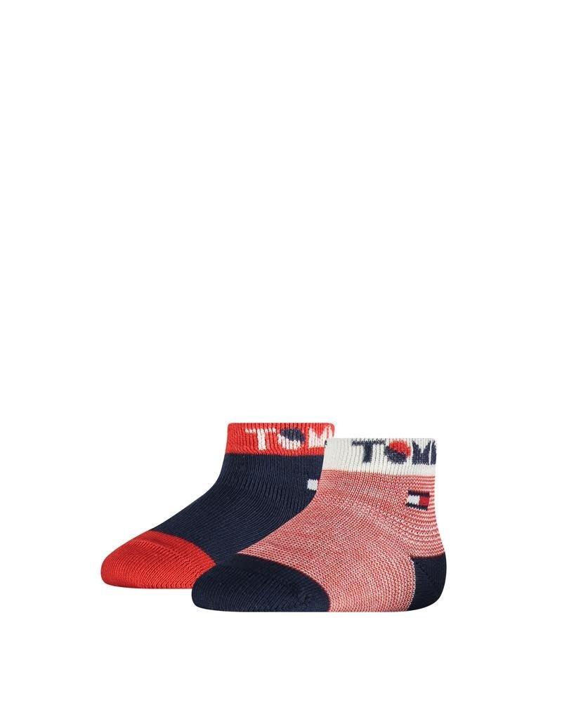 Tommy Hilfiger Tommy Hilfiger 2 paar  sokjes blauw  Tommy