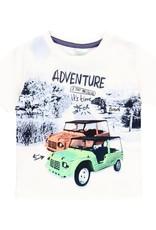 """Boboli Boboli Knit t-Shirt """"adventure"""" for baby boy WHITE 342043"""