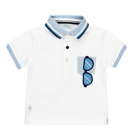 Boboli Boboli Pique polo for baby boy WHITE 312051