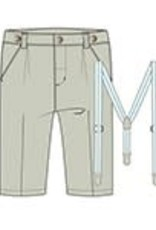 Boboli Boboli Linen trousers for baby boy stone 712055