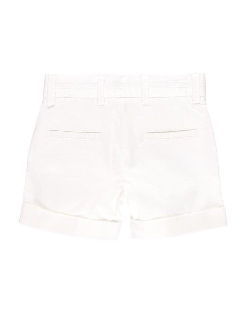 Boboli Boboli Satin bermuda shorts stretch for baby boy WHITE 712099