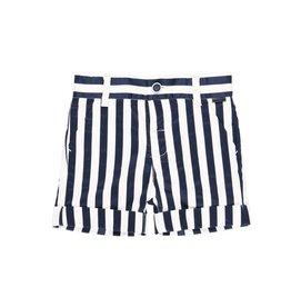 Boboli Boboli Satin bermuda shorts striped for baby boy stripes 712189