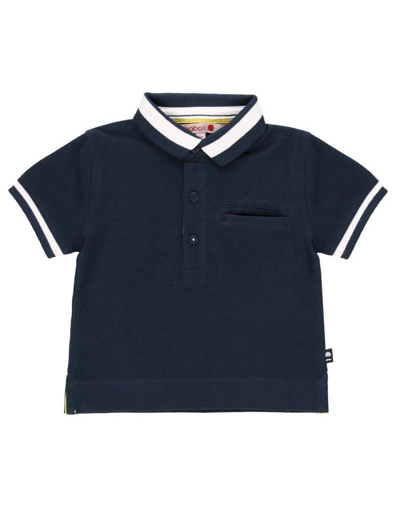 Boboli Boboli Pique polo for baby boy NAVY 712224