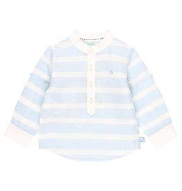 Boboli Boboli Linen shirt long sleeves for baby boy stripes 712235
