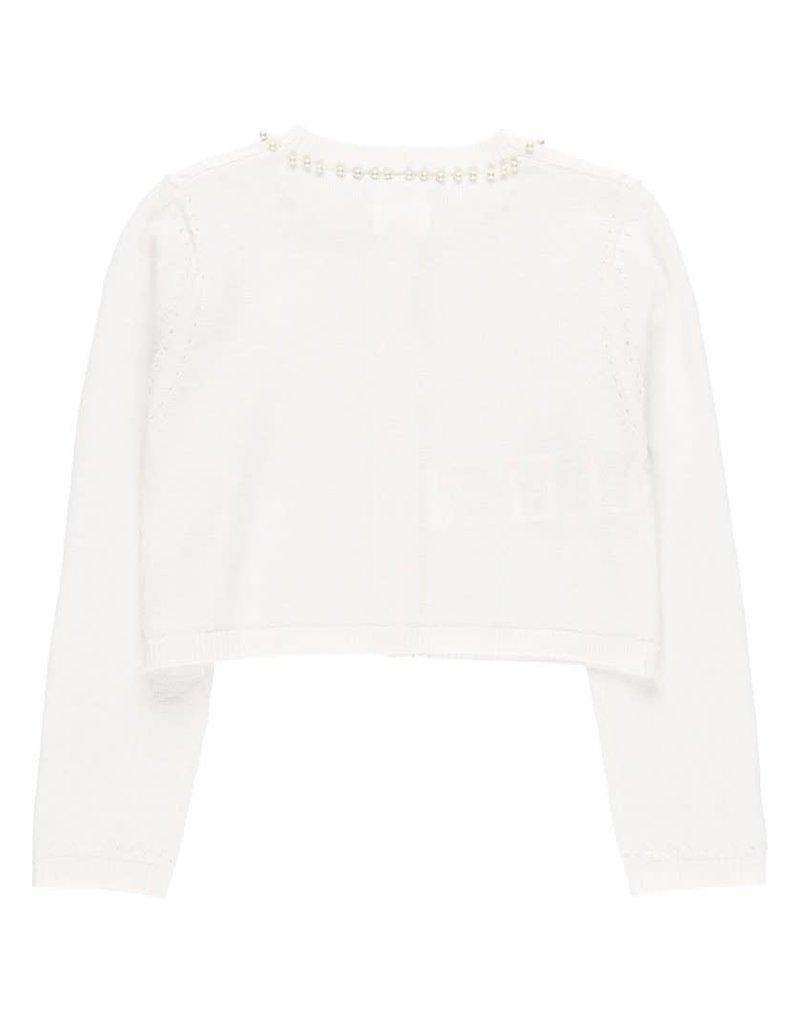 Boboli Boboli Knitwear jacket for girl WHITE 722584