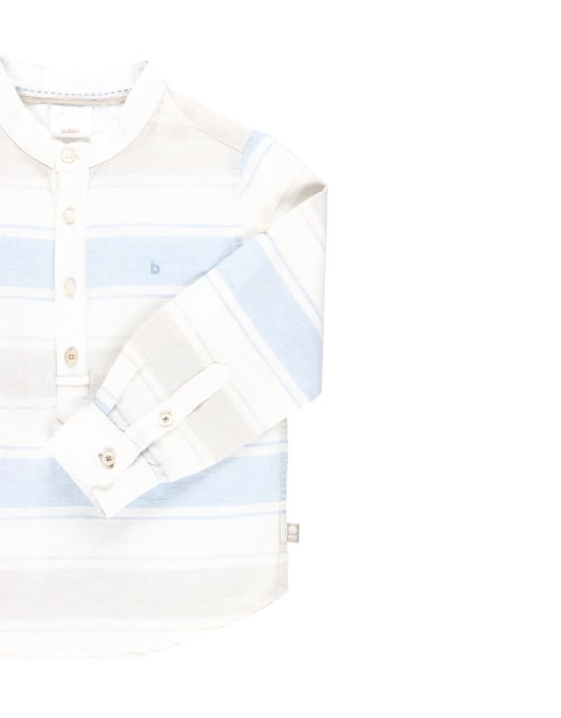 Boboli Boboli Linen shirt long sleeves striped for boy stripes 732068