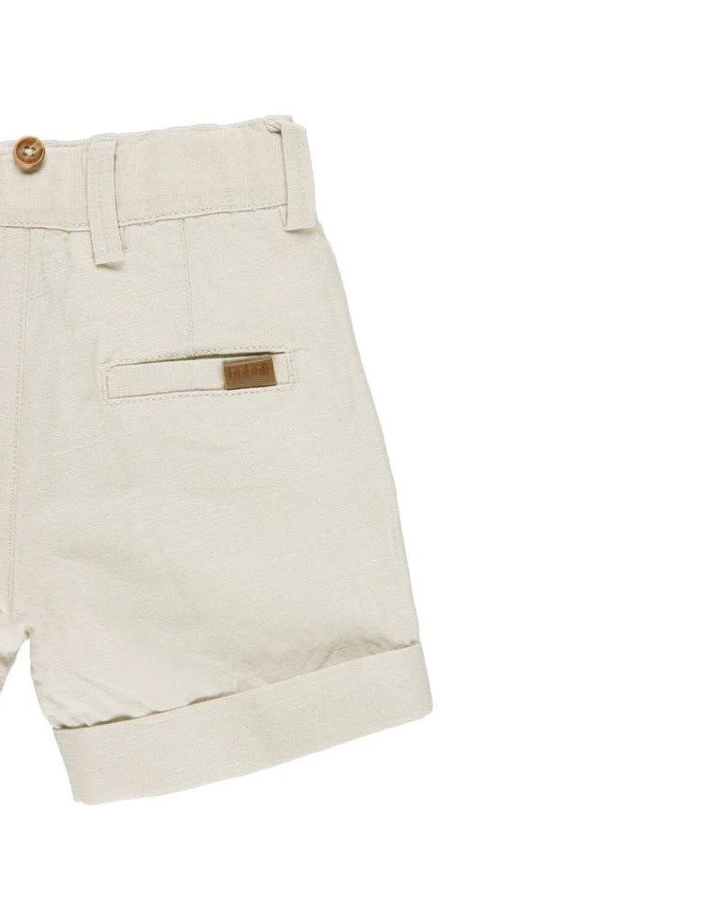 Boboli Boboli Linen bermuda shorts for baby boy stone 712077