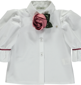Piccola Speranza Piccola Speranza blouse ps206010 met satijnen roos