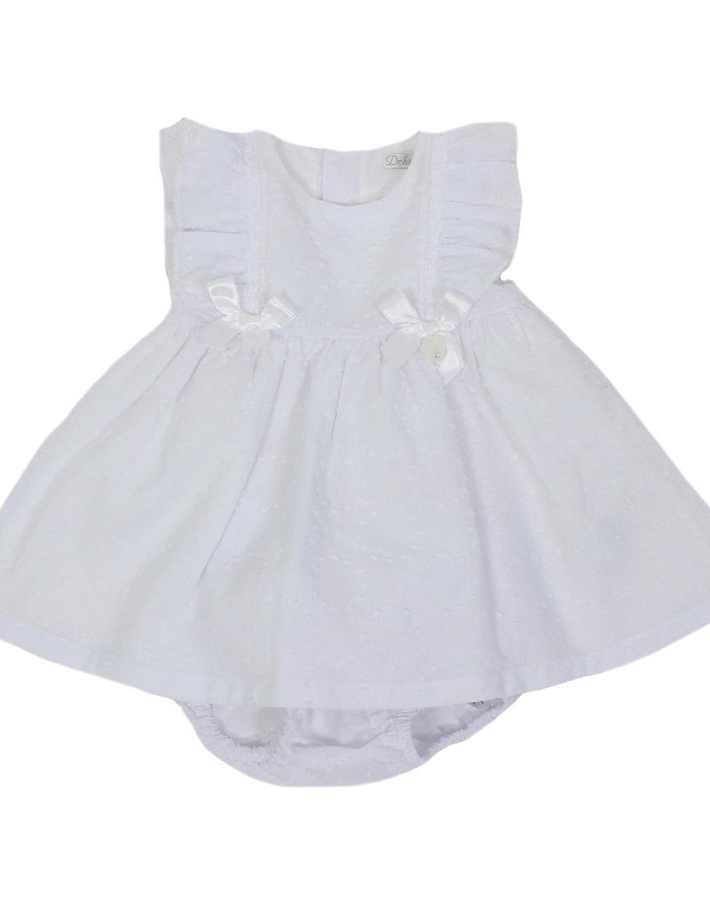 Dr Kid Dr Kid Dress + Panties (Newborn) 000-Branco-DK106