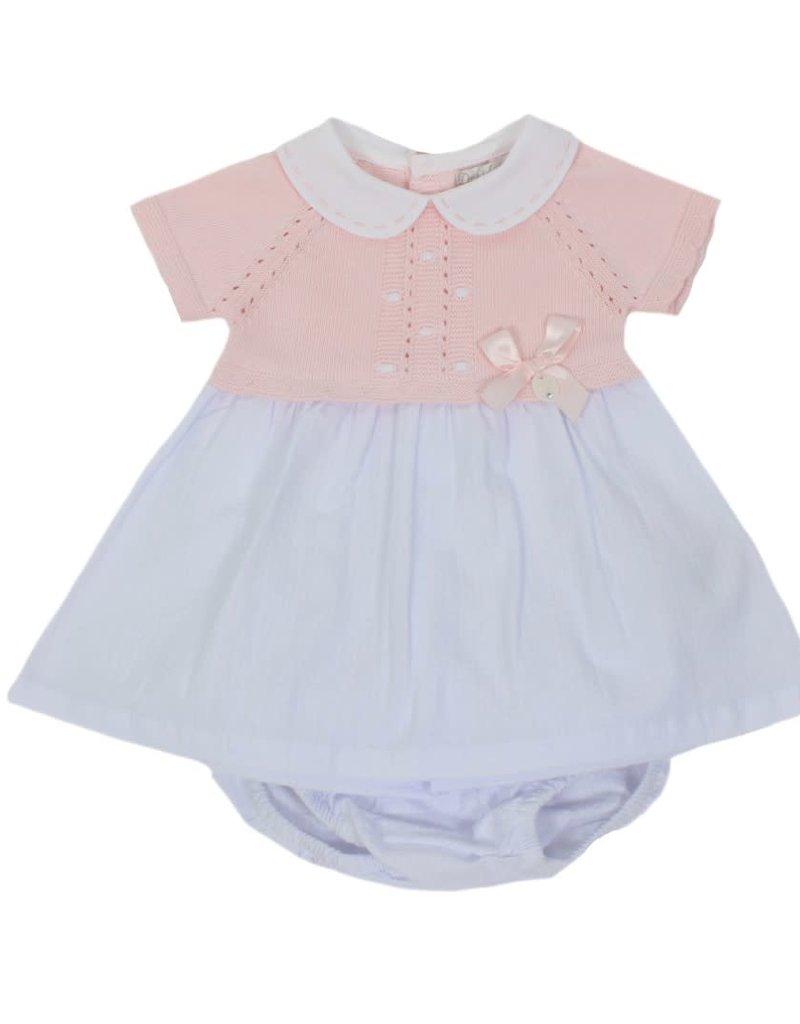 Dr Kid Dr Kid Dress + Panties (Newborn) 252-Rosa Bebé-DK135