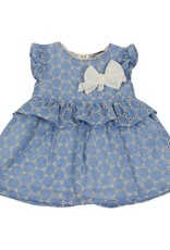 Dr Kid Dr Kid Baby Girl Dress 080-Azul-DK360