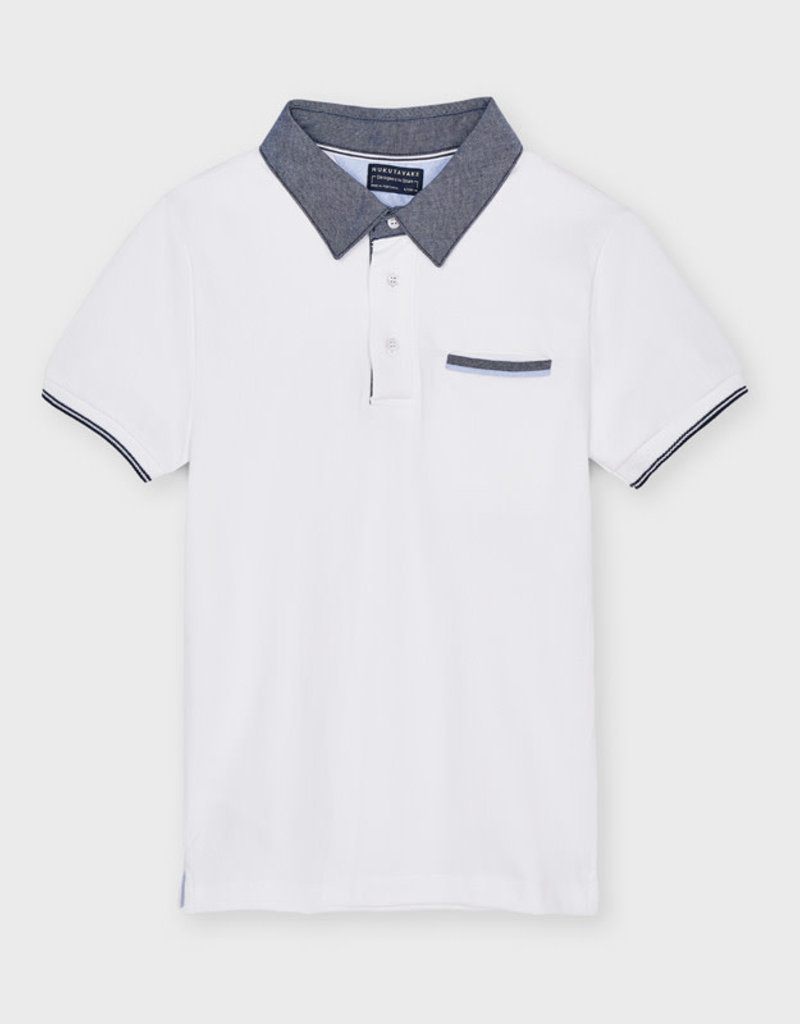 Mayoral Mayoral Contrast polo for older boy  white