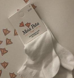 Meia Pata Meia Pata Peaked Short Socks 01 White