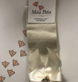Meia Pata Meia Pata Kneesocks With Satin Bow and Gold Botton 47 Ivory Lurex