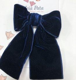 Meia Pata Meia Pata Velvet Hair Tie 14 Navy Blue