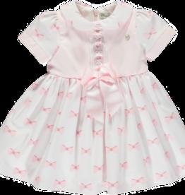 Piccola Speranza Piccola  Speranza  dress pink whith bow