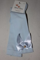 Meia Pata Meia Pata Kneesocks With Satin Bow and Gold Botton 11 Baby Blue