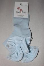 Meia Pata Meia Pata Kneesocks With Tule Bow With Pearls 11 Baby Blue