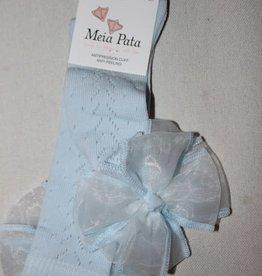 Meia Pata Meia Pata Kneesocks New Spike With Organza Bow 11 Baby Blue
